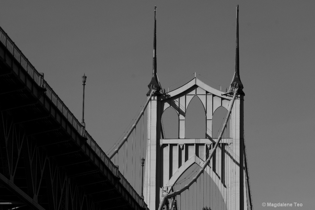 BnW series in Portland - St. John's Bridge