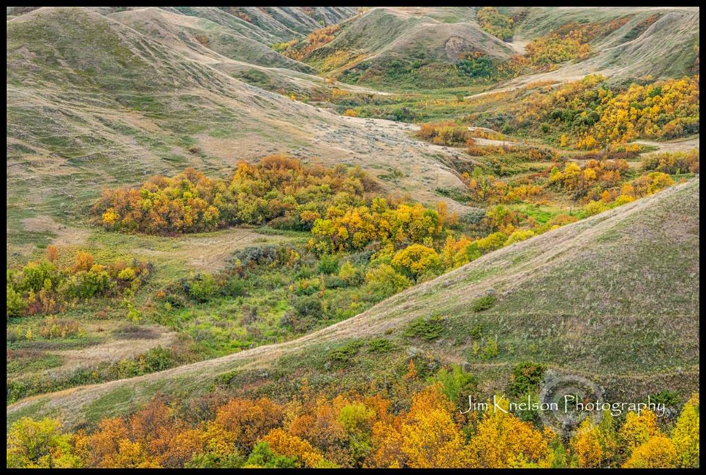 Prairie Coulee Autumn, Saskatchewan