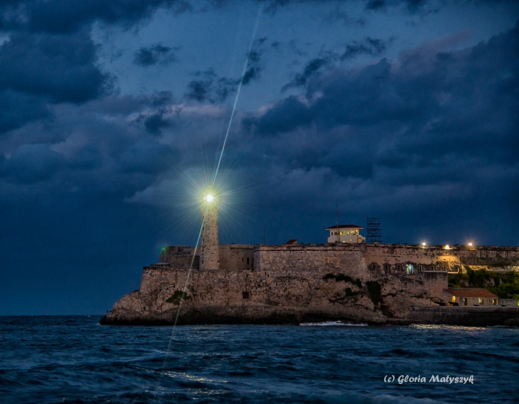Morro Castle at night. Havana, Cuba
