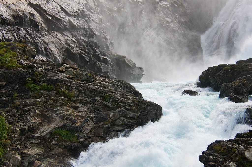 Beautiful Waterfall in Norway