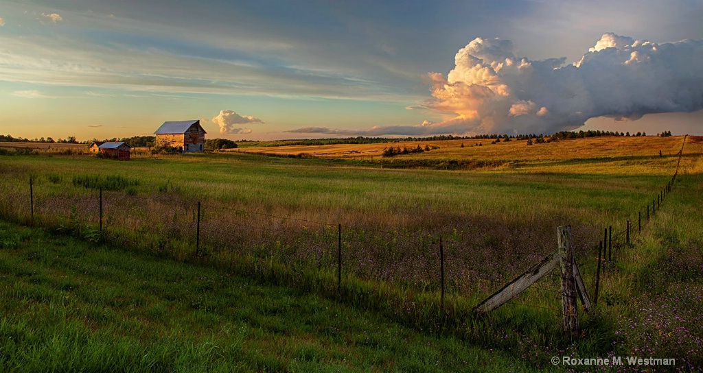 Evening storm in the Minnesota countryside