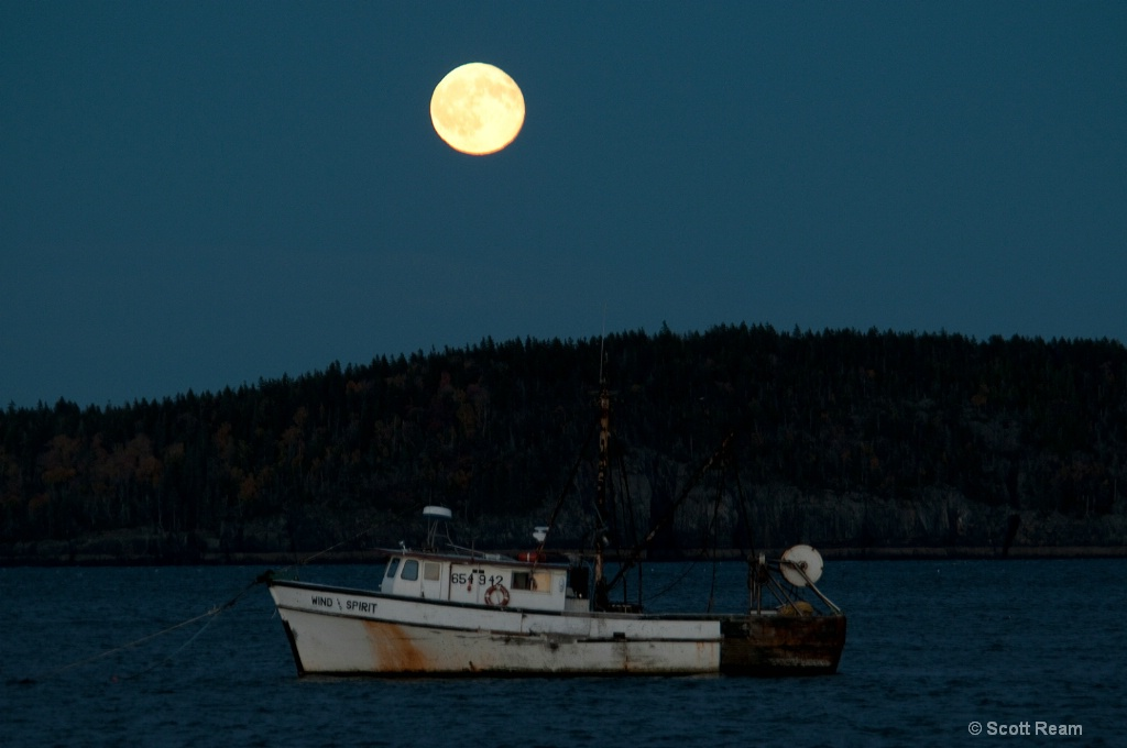 Bar Harbor.2010 Full Moon over Bar Harbor 2