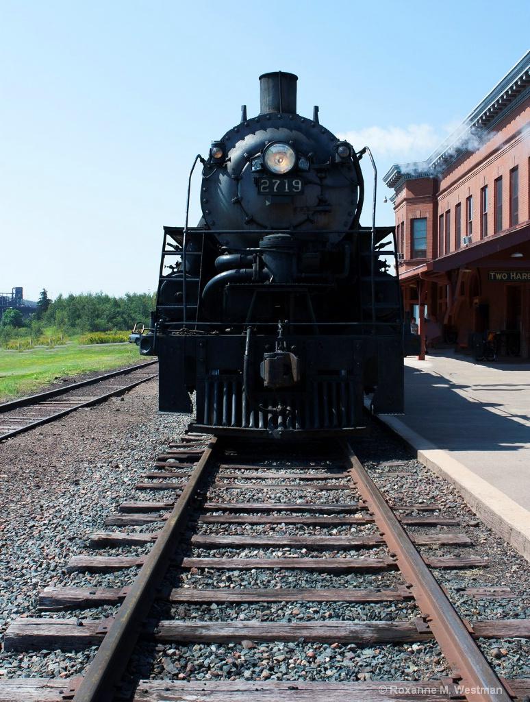 Steam Locomotive in Portrait