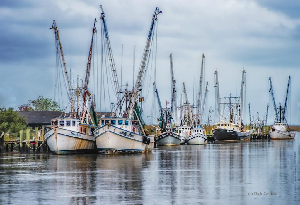 Shrimp Boats, Darien, GA by Dick Caldwell