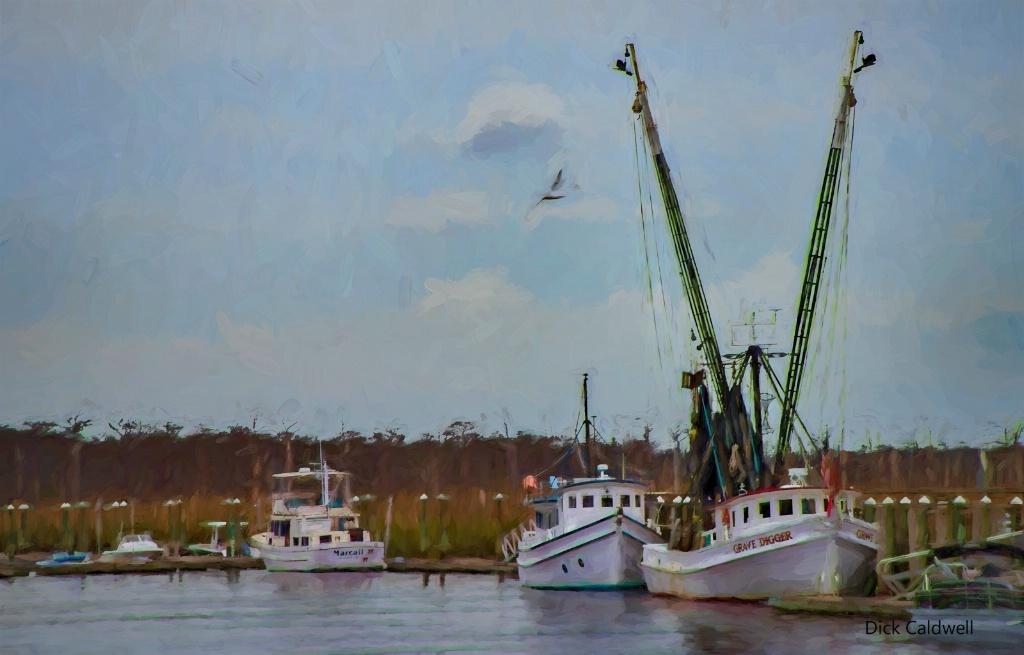 Boats in Darien, GA, USA. By Dick Caldwell