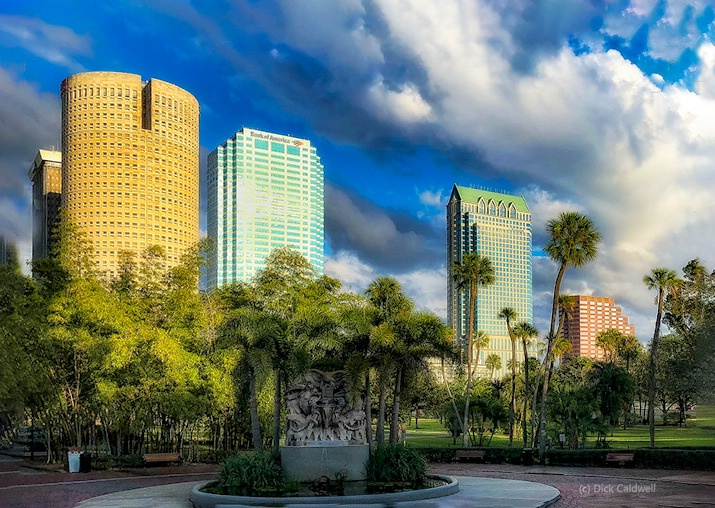 Buildings in Downtown Tampa, FL by Dick Caldwell