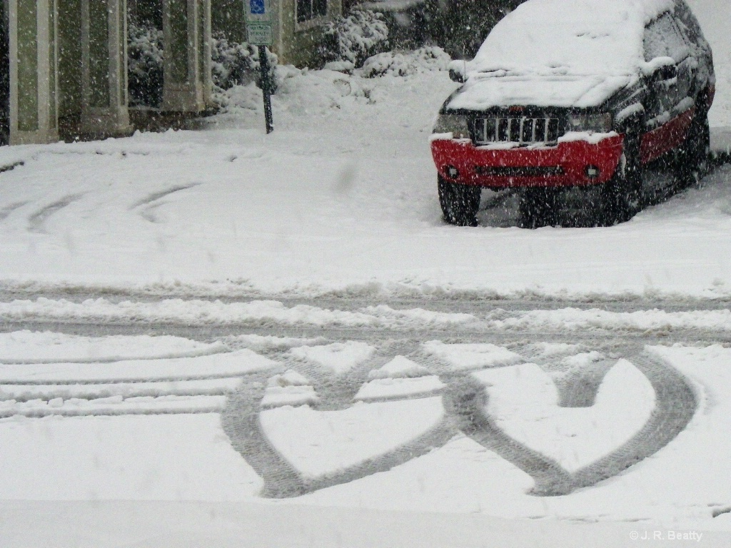 Snowy Hearts Intertwined Valentine