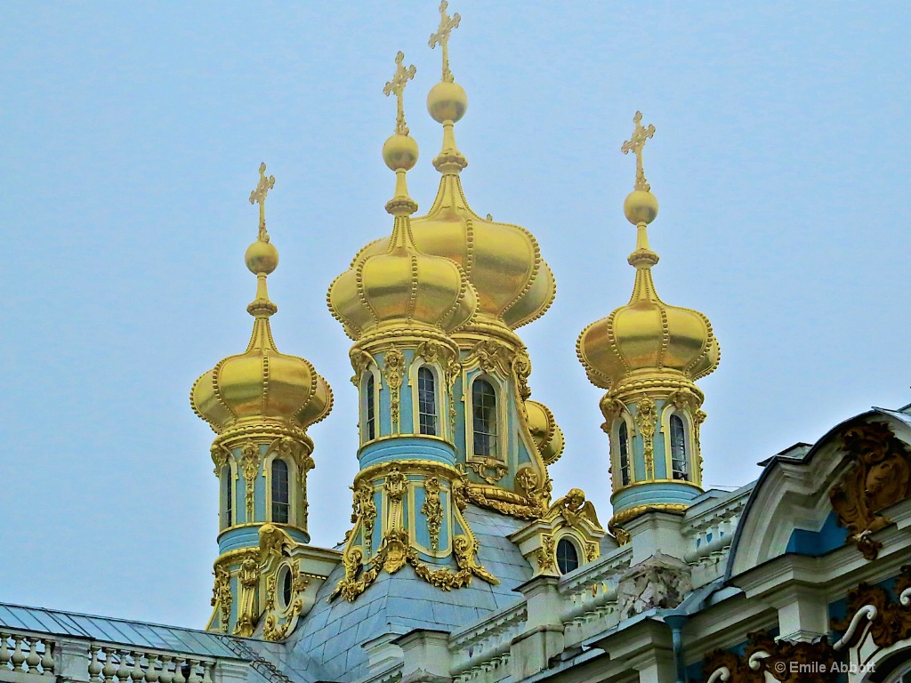 Golden Domes of Catherine's Palace Chapel