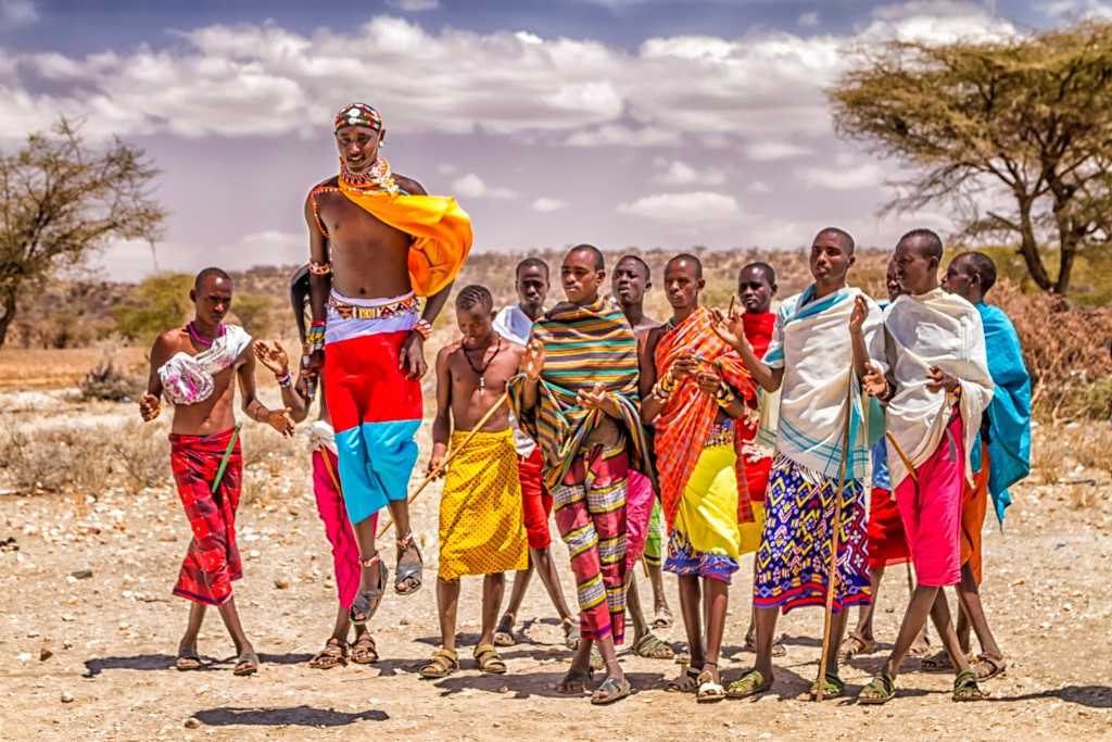 Samburu Village Warriors  6806