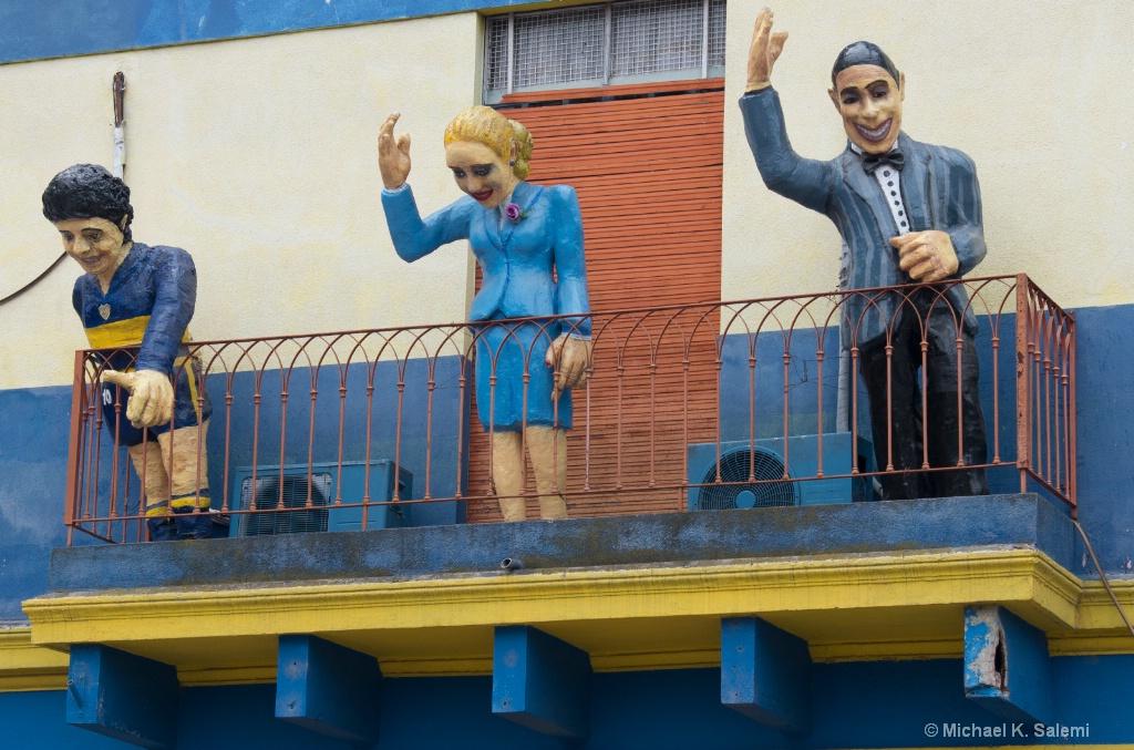 La Boca Homage to Gardel, Evita and Maradona