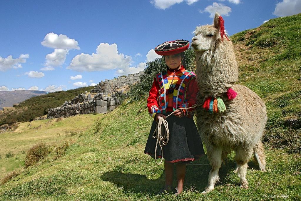 Her Pet Llama