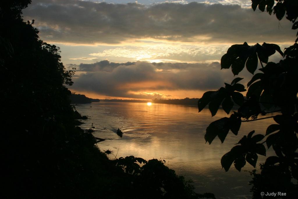 Rio Madre De Dios Sunset
