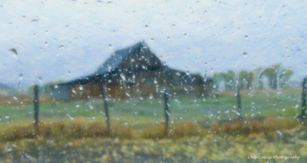 Rain at the Moulton Barn