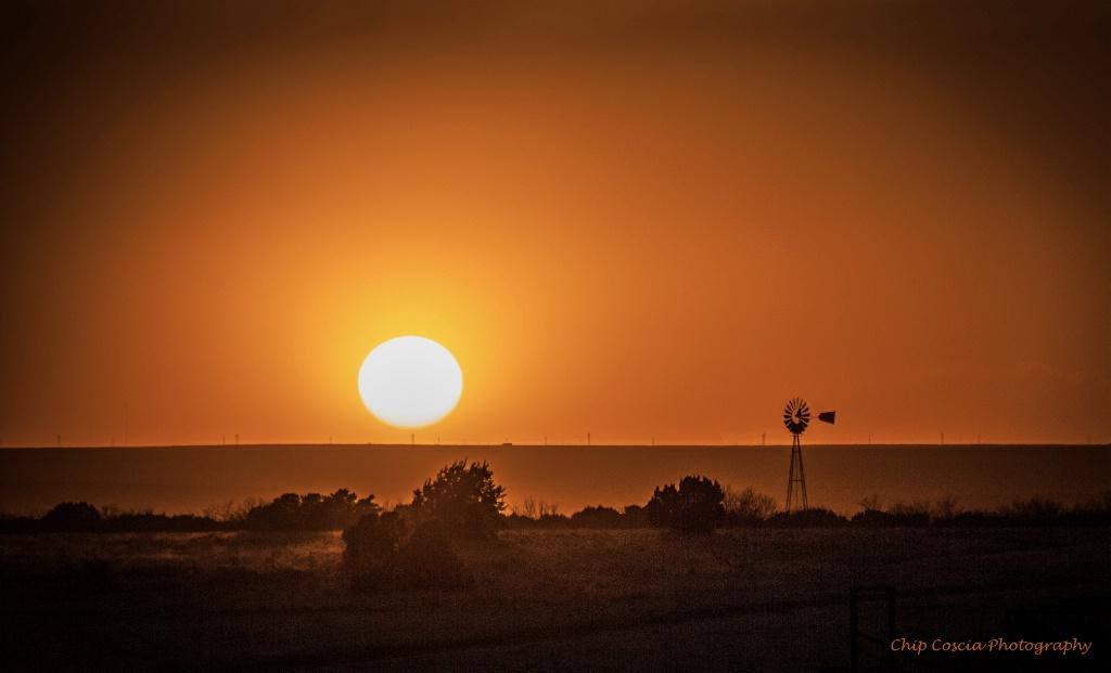 Sunset and Windmill #1