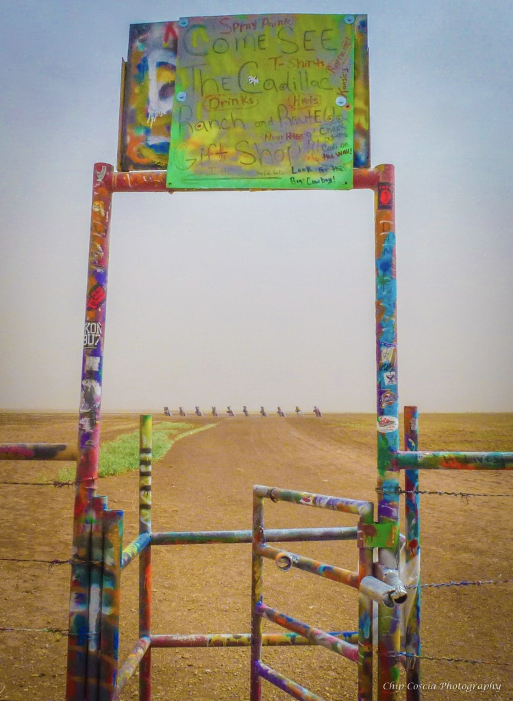 Entry Gate to Cadillac Ranch