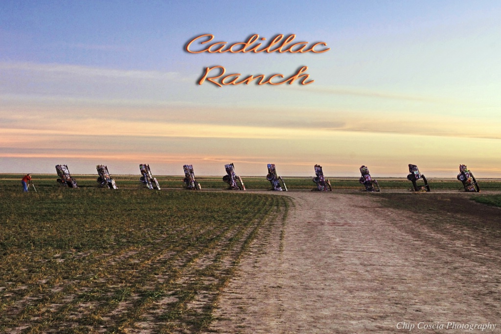 Photographing the Cadillac Ranch
