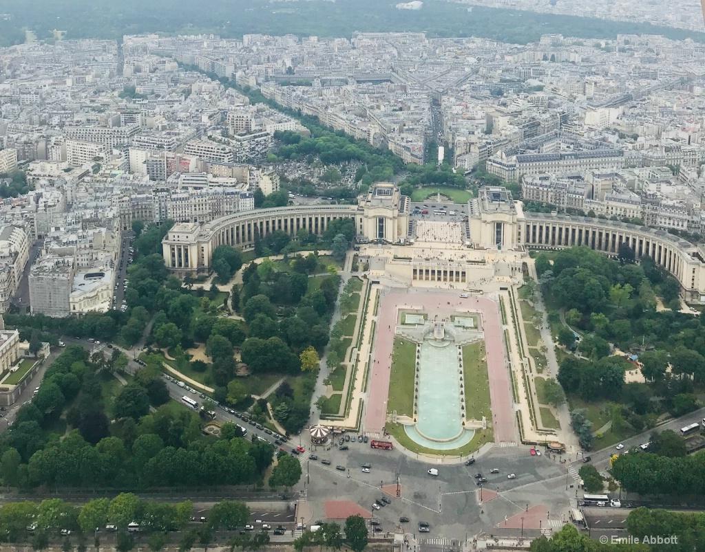Jardin du Trocadéro from Eiffel Tower