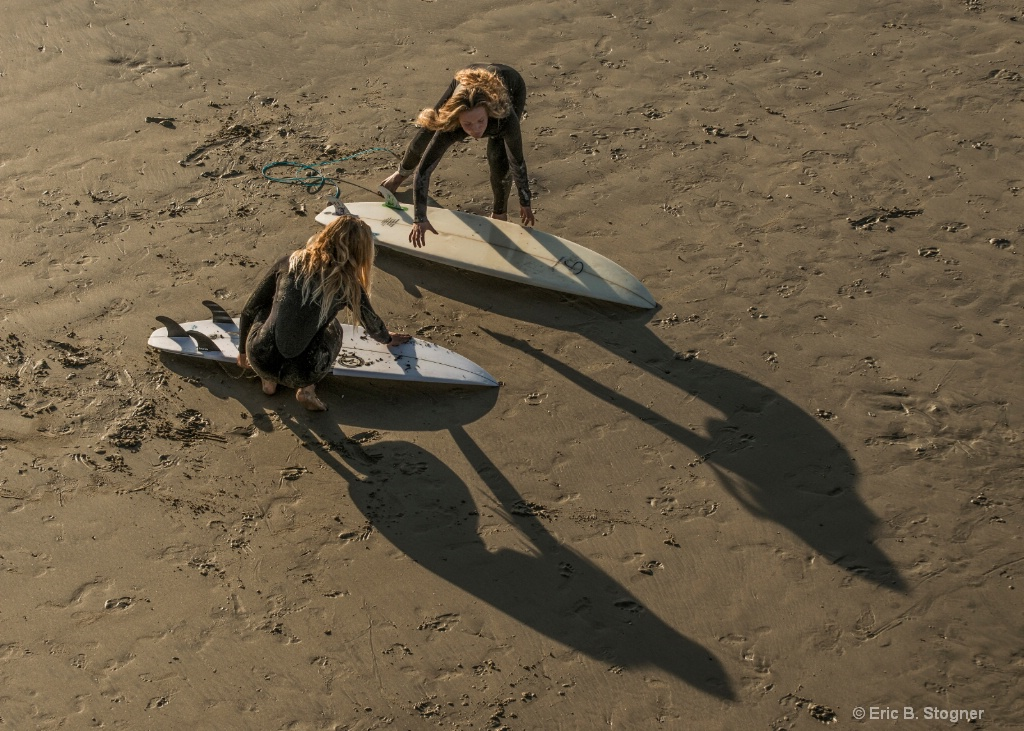 Surfer Girls and Shadows.
