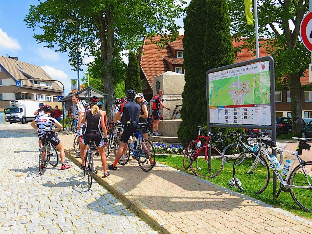 Bicyclist in St. Margen