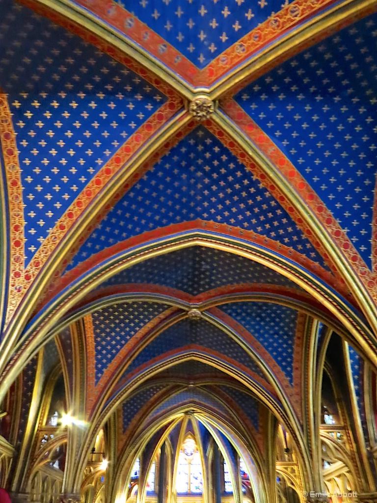 Ceiling Sainte-Chapelle in Paris