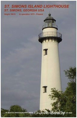 ST SIMONS ISLAND LIGHTHOUSE POSTER $15