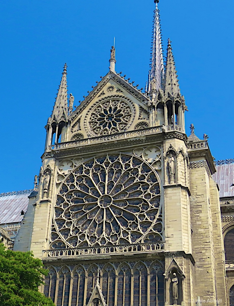 Outside view South Rose Window