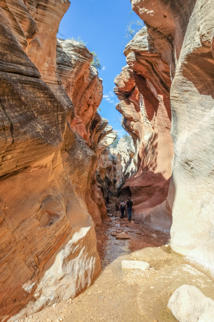 into the slot canyon