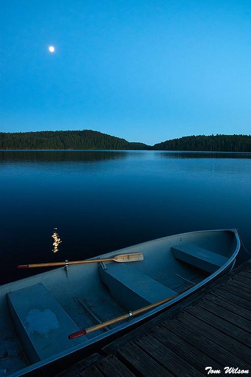 Fishing Boat on Lac Moiseau, Quebec