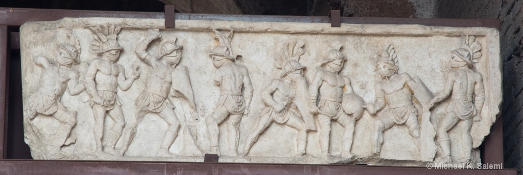 Gladiator Frieze at Colosseum