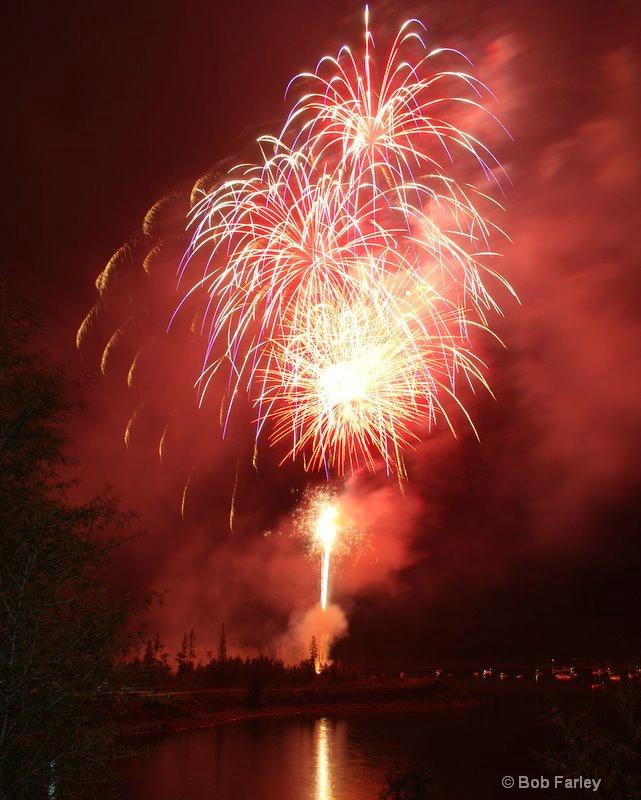 Fireworks on Lake Dillon