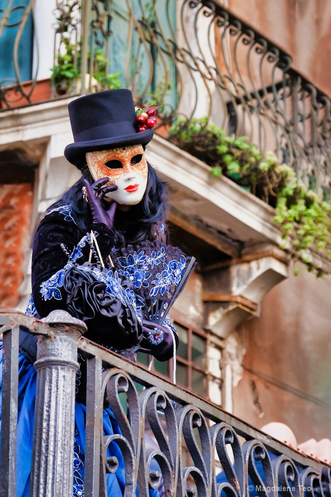 Venice Carnival: Portraits Series - Close Up Blue