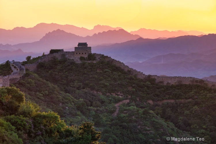 Throwback to China - Great Wall at Dawn