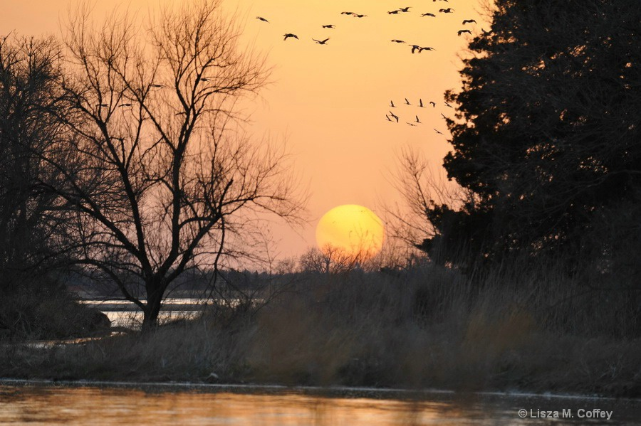 Easter Eve Sunset on the Platte