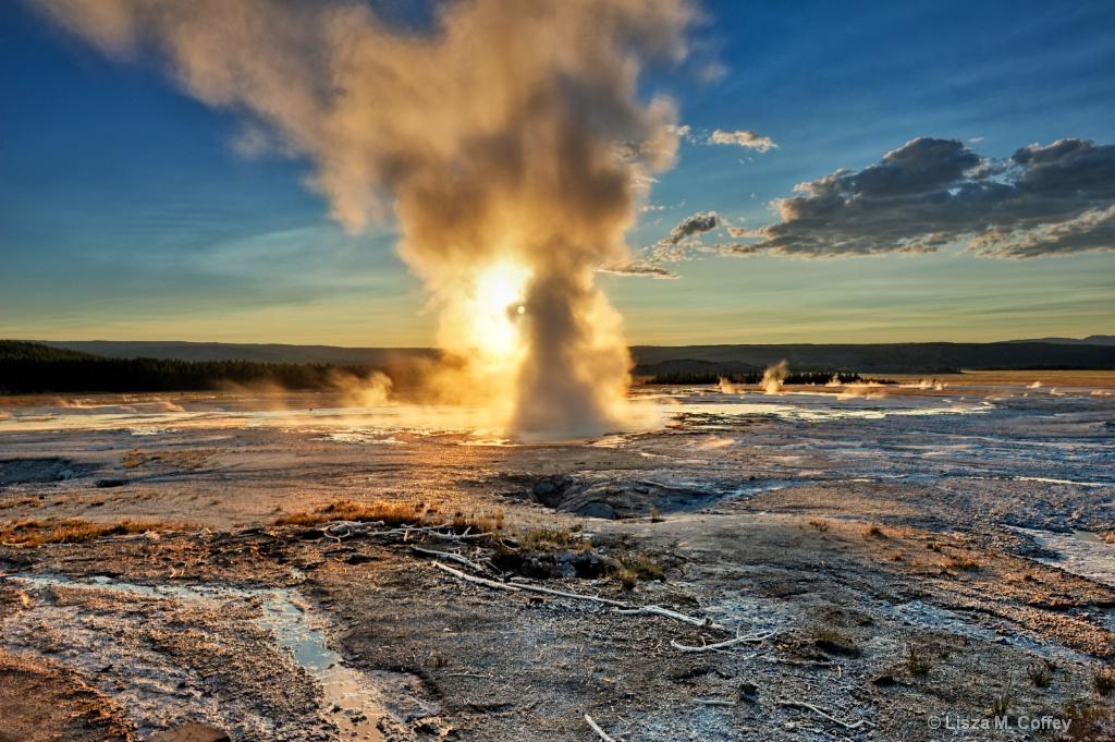 Fiery Sunset Eruption