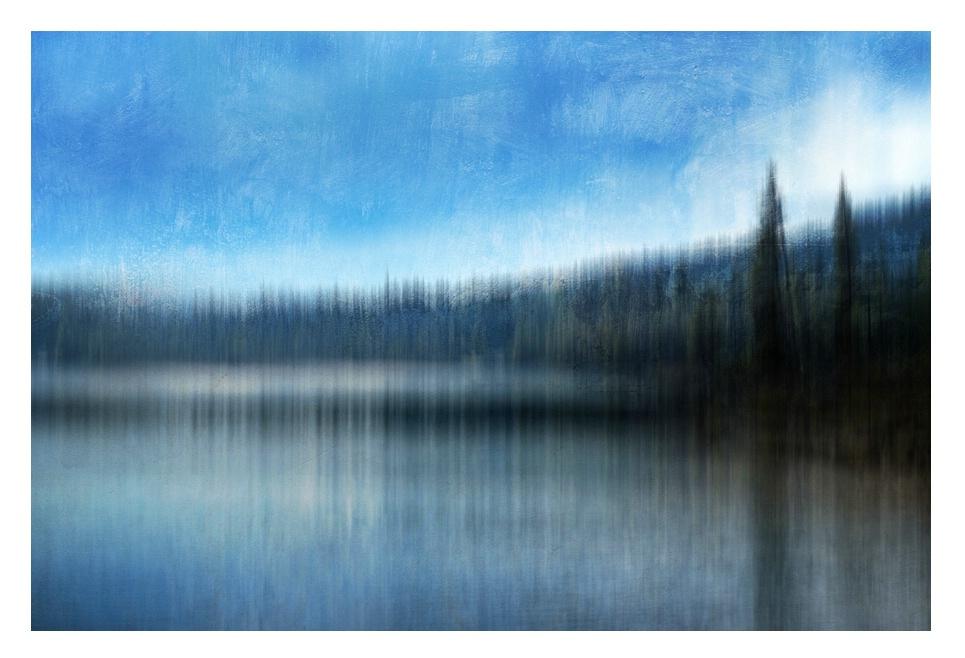 Blue Day at Elk Lake