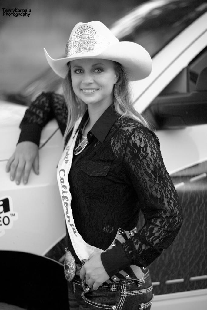 Miss Rodeo California    B&W