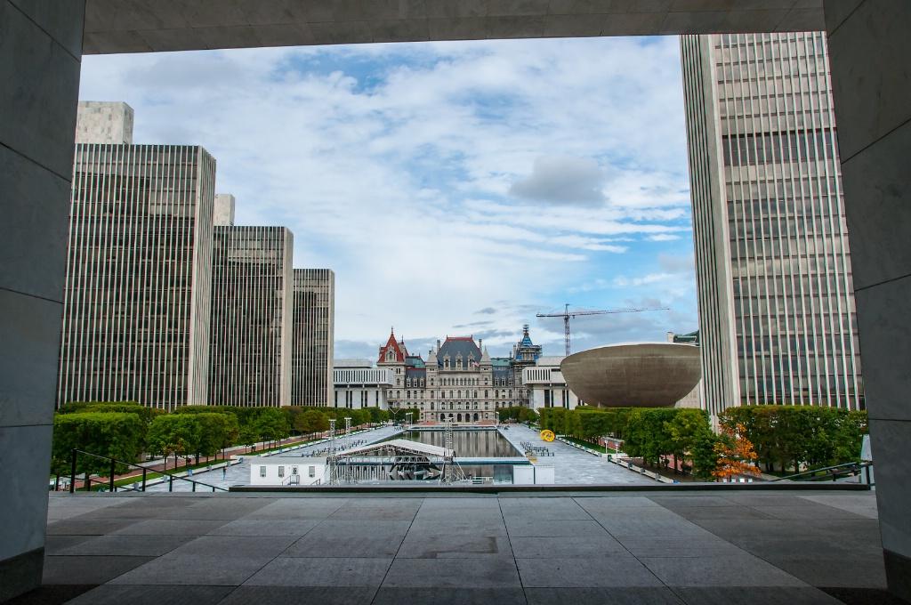 Empire State Plaza framed