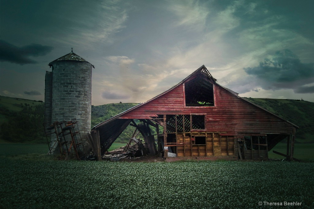 Country Life - Red Barn and Silo