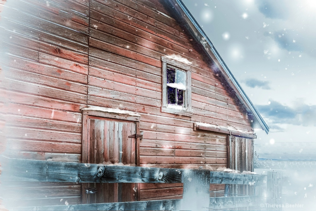 Country Life - Snowy Barn