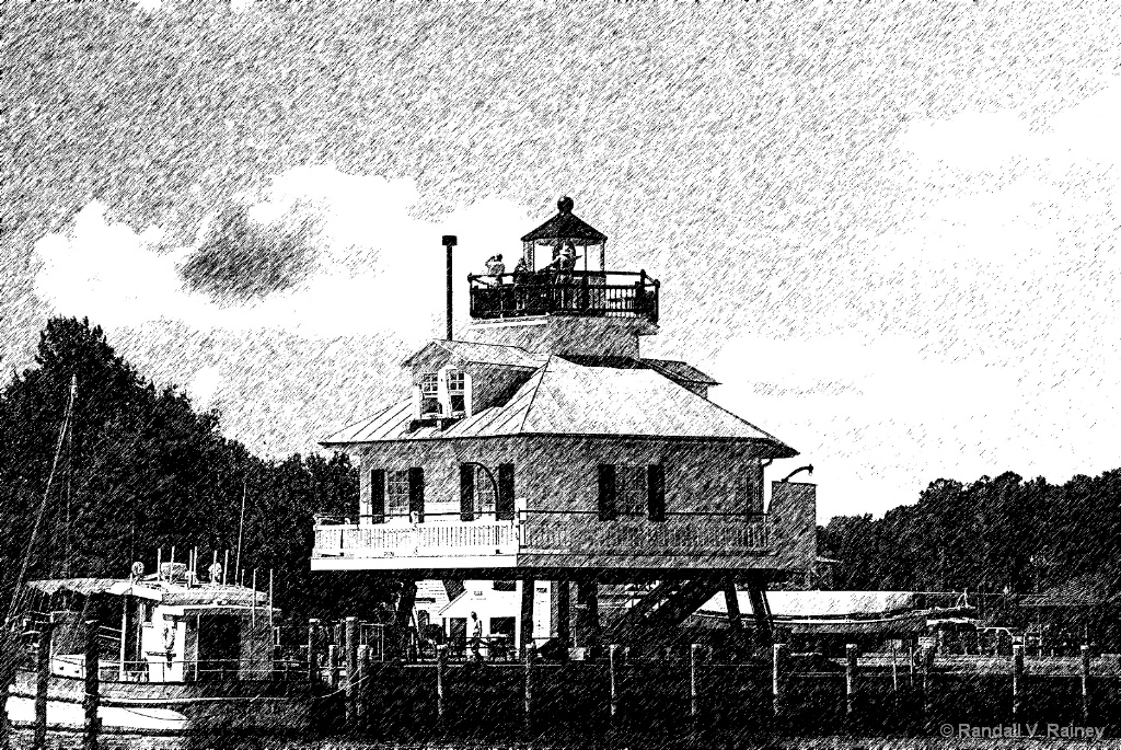 Hooper Island Lighthouse Pencil Sketch