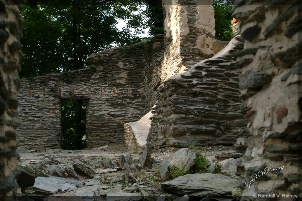 The old Harpers Ferry Ruins . . .