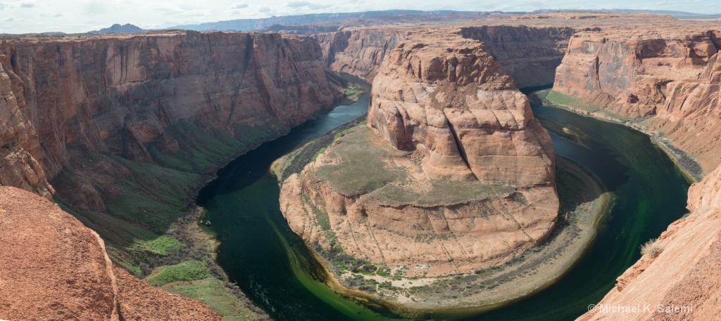 Panorama of Horseshoe Bend in the Colorado