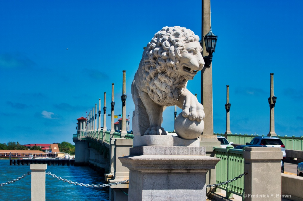 Lion Guarding the bridge