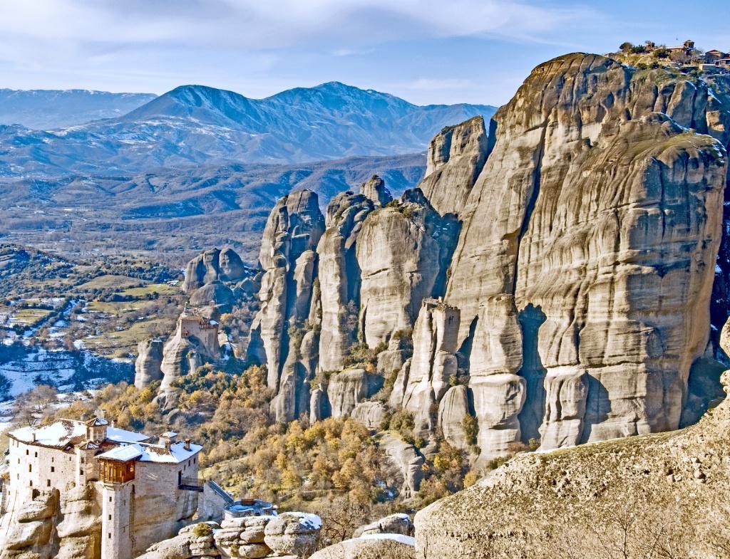 Meteora Rocks and Monasteries.