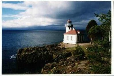 Lime Kiln Light, San Juan Island, Washington, USA