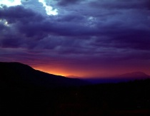 Stormy Mountain Sunset