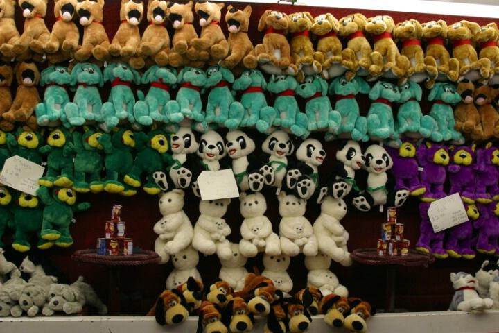 Stuffed animals at carnivals