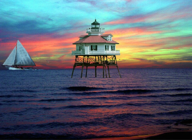 Drum Point Md. Lighthouse Restoration