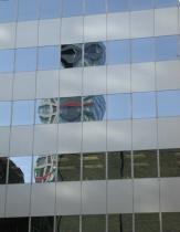 reflection of the skyscraper