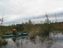 Tim kayaking the Pines